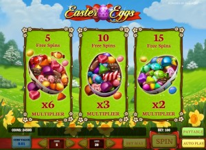 Easter Eggs free spins
