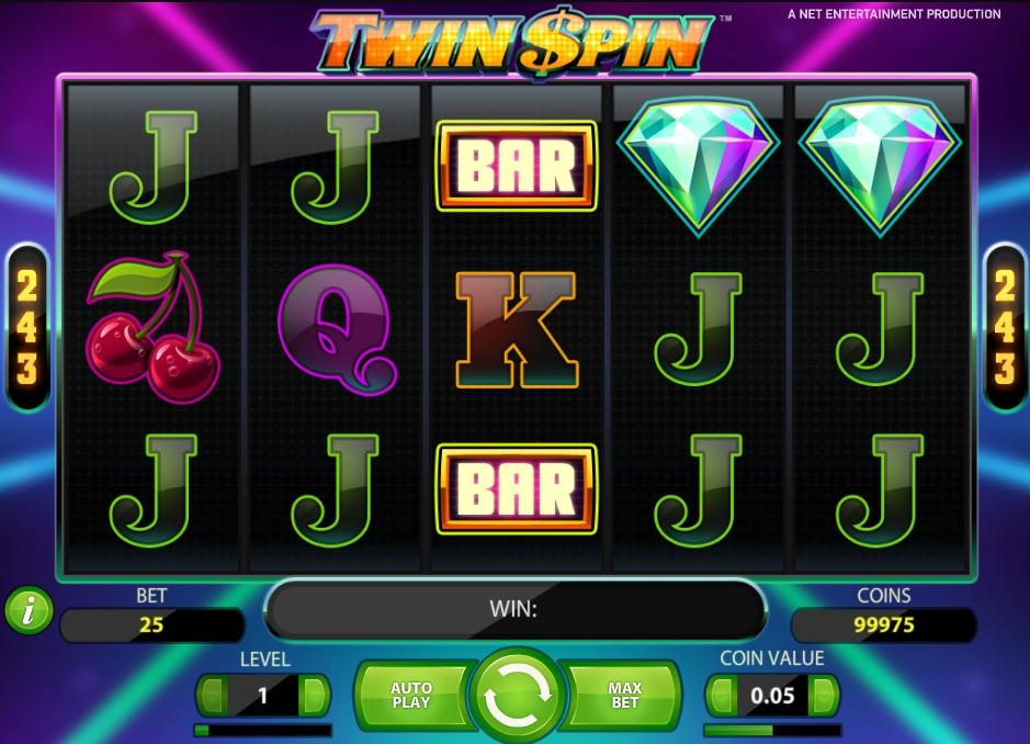 Бесплатные спины в игре Twin Spin