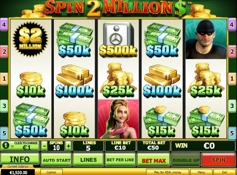 Бесплатные спины в автомате Spin 2 Million $