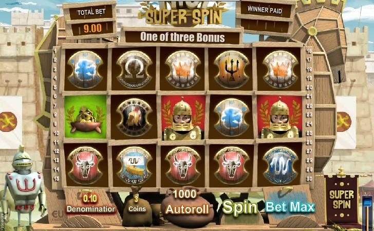 Бесплатные спины в автомате Troy Super Spin