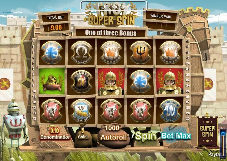 игровой автомат Troy Super Spin